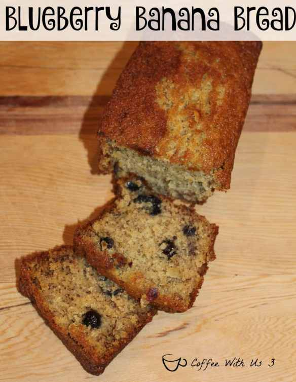 Blueberry Banana bread is a moist & delicious quick bread. It's also packed with flavor & is super easy to whip up & throw into the oven.