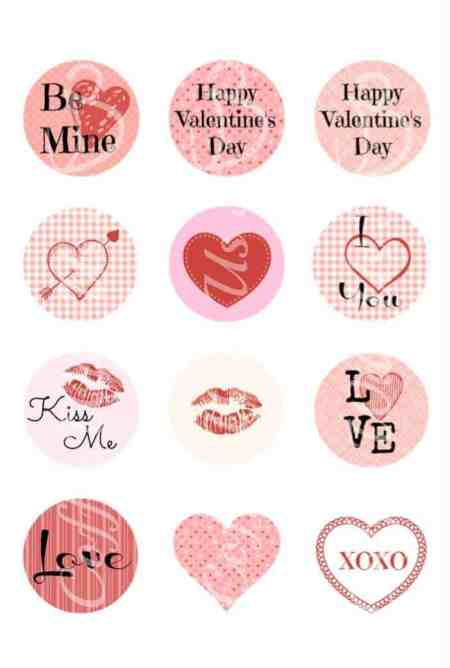 Free Valentine's Day Printables - Stickers