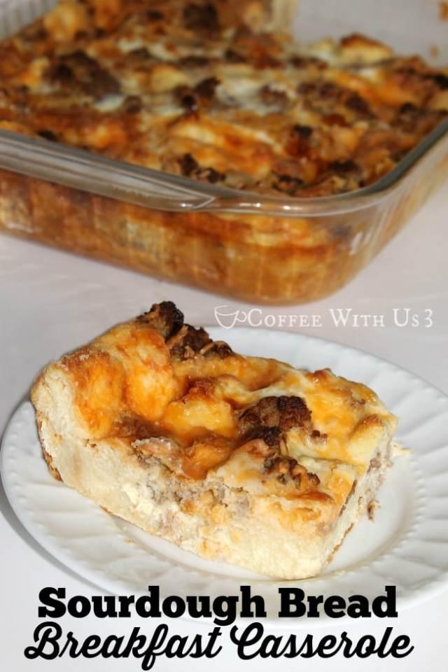 Sourdough Bread Breakfast Casserole 2
