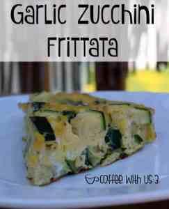 garlic zucchini frittata