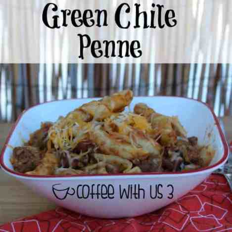Green Chile Penne with cheese