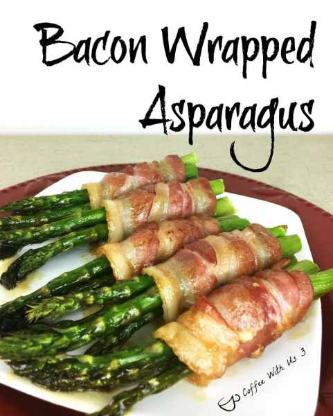 Bacon Wrapped Asparagus is a sweet and savory side dish. Ready in 30 minutes and perfect for dinner tonight. Enjoy asparagus season!