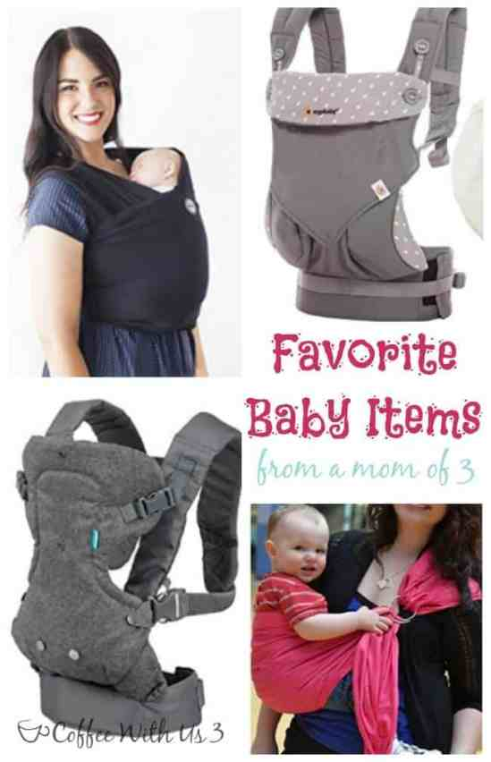 What do you really need for your baby? A list of my favorite baby items from a mom of 3.