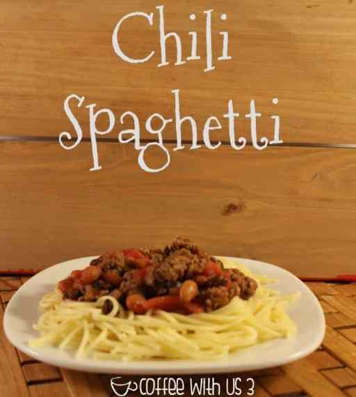 An easy & delicious family dinner that's ready in less than 30 minutes. This Chili Spaghetti is sure to be a hit with your kids & the whole family!