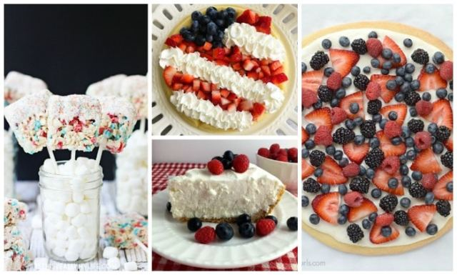 Lots of blueberries and strawberries, and more fun festive recipes for the Olympics