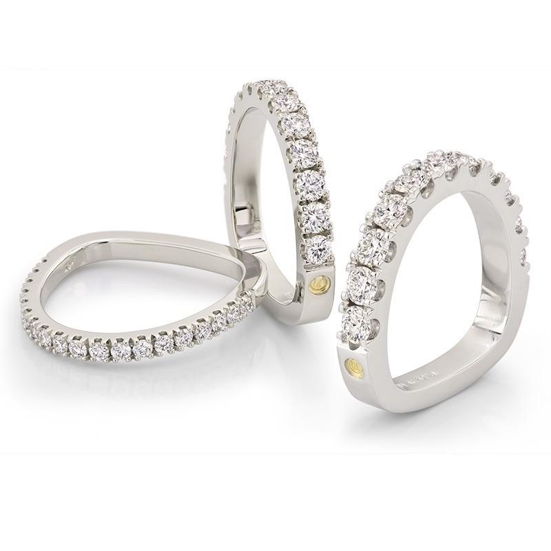 Split Prong Diamond Wedding Bands