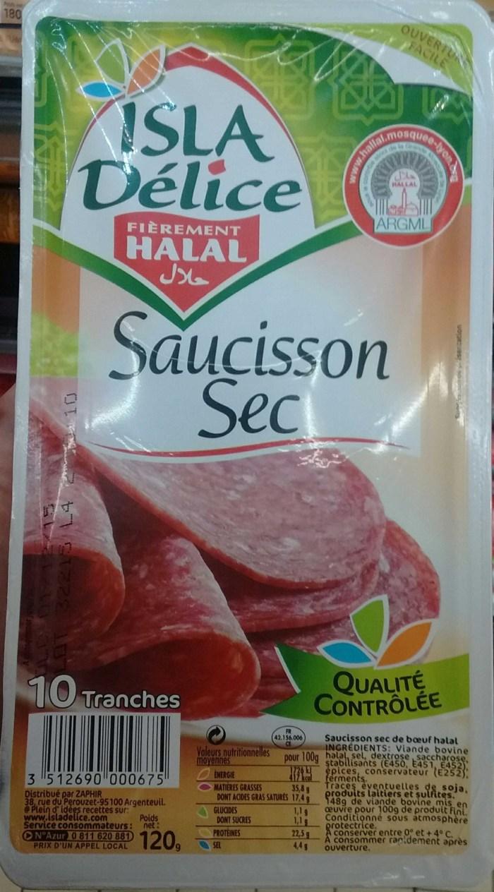 saucisson sec halal