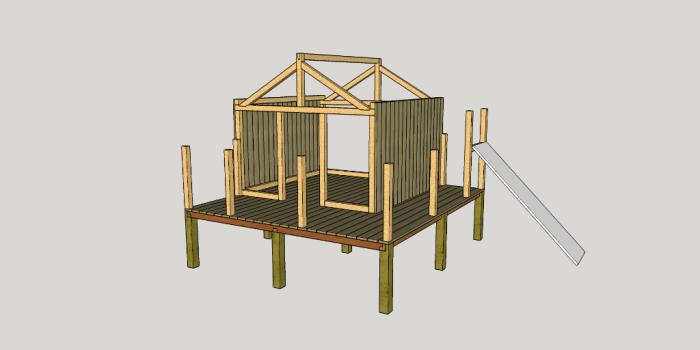 construction abri bois