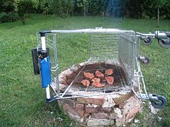 barbecue cuisson verticale