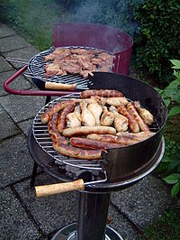 grand barbecue charbon de bois