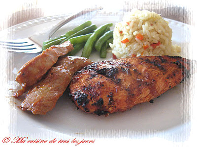 marinade sauce barbecue poulet