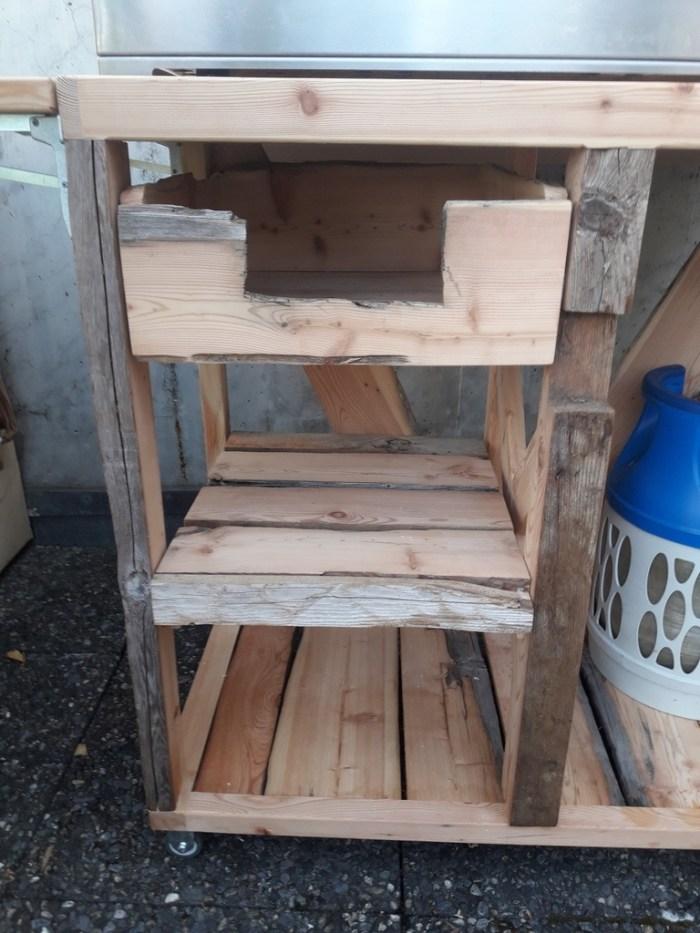 meuble extérieur pour plancha