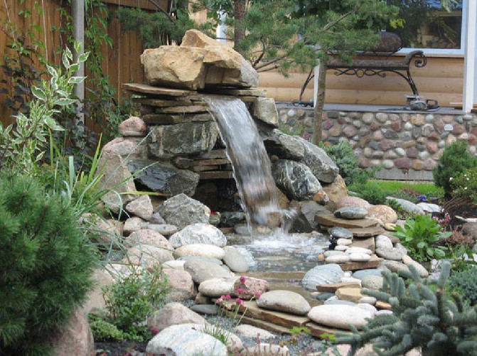 Small Yard Ponds And Waterfalls
