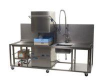 Beschermcontainer vaatwasser met spoeltafel