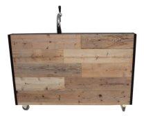 Mobiele bar met opstand uitvoering hout