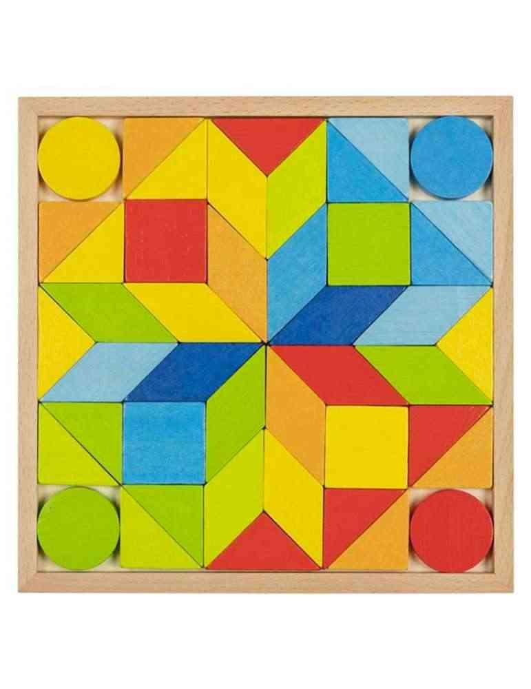 Jeu De Mosaique Puzzle En Bois Goki