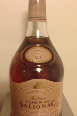 Cognac Salignac bottle