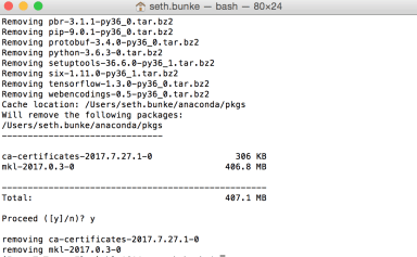 Using Anaconda with Python and Running Out of Disk Space