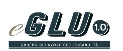 Logo del protocollo eGlu 1.0 in scritta blu su sfondo bianco
