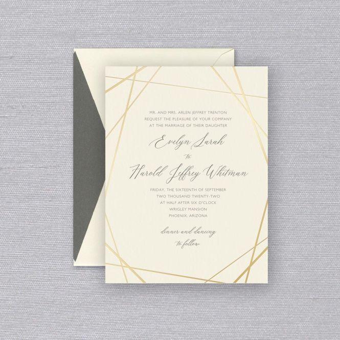 Ecru Convergence Elegant Wedding Invitation
