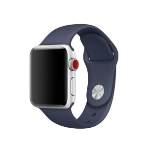 correa de silicon azul oscuro para apple watch