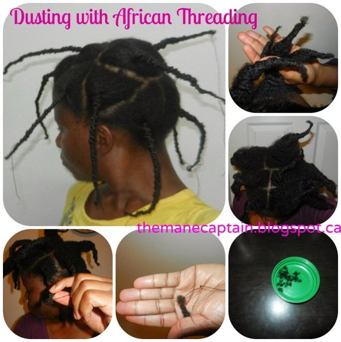 Hair Trims | Dusting Natural Hair with African Threading