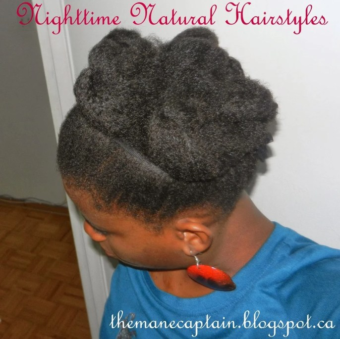 10 Nighttime Natural Hairstyles