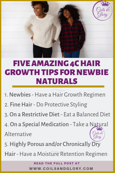 4c natural hair growth tips for beginners