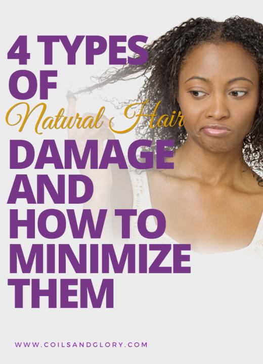 4 types of natural hair damage
