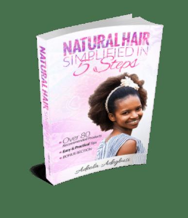 Natural Hair Simplified in 5 Steps PNG