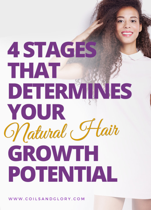 4 STAGES THAT DETERMINES YOUR NATURAL HAIR GROWTH POTENTIAL
