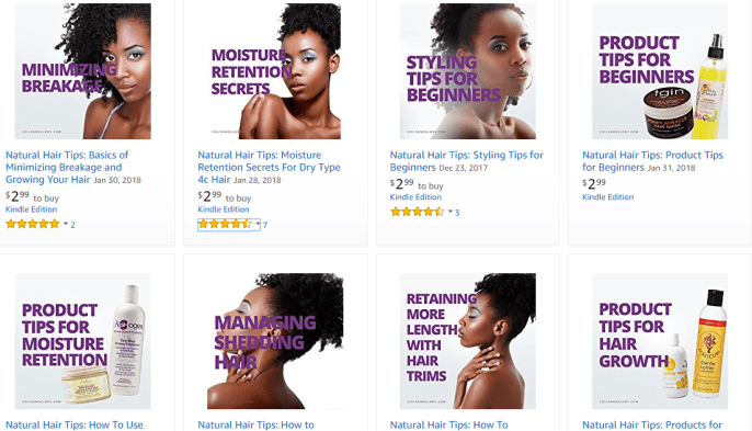 Order Your Natural Hair Books on Kindle | Over 20 Topics