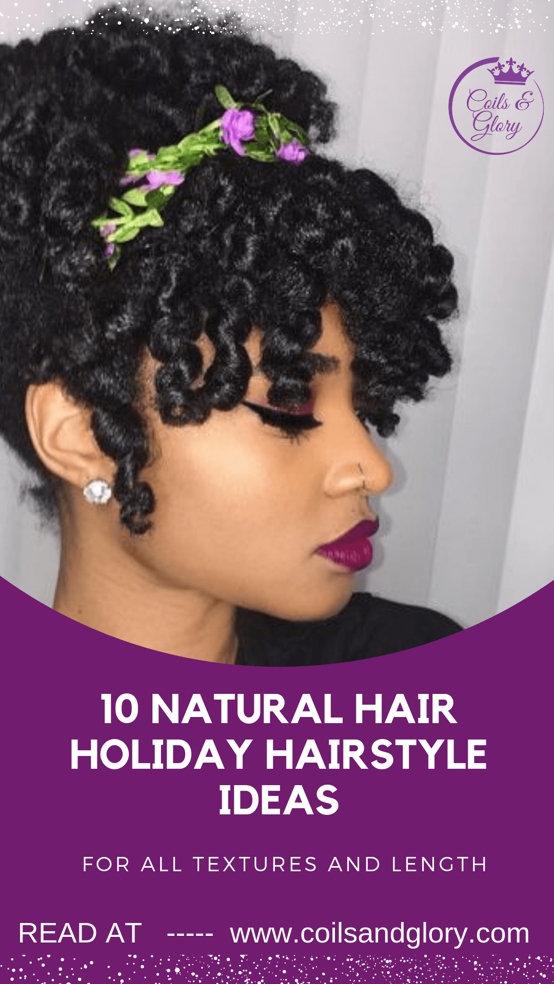 10 Beautiful Holiday Natural Hairstyles For All Length Textures