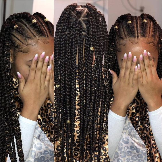 winter protective natural hairstyles for kids