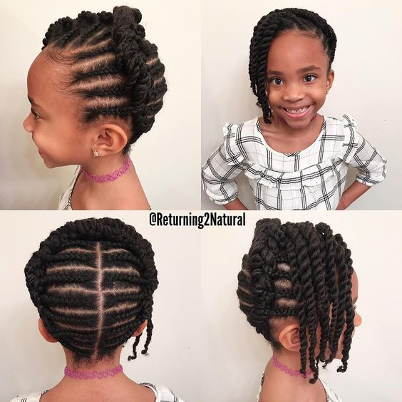 Easy Natural Hair Little Black Girl Braided Hairstyles Easy Braid Haristyles