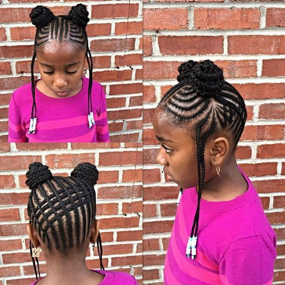 winter protective hairstyles for kids
