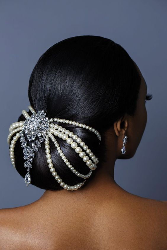 wedding updos for black women