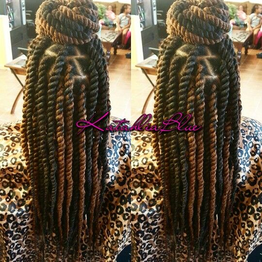 havana twist hairstyles with color