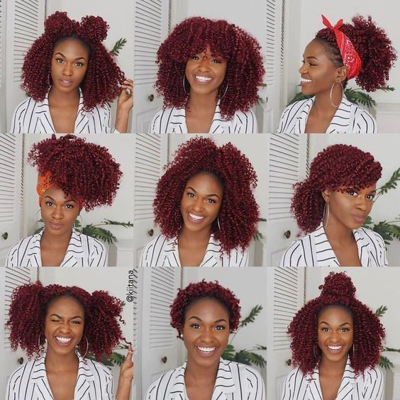 burgundy crochet hair styles for round faces
