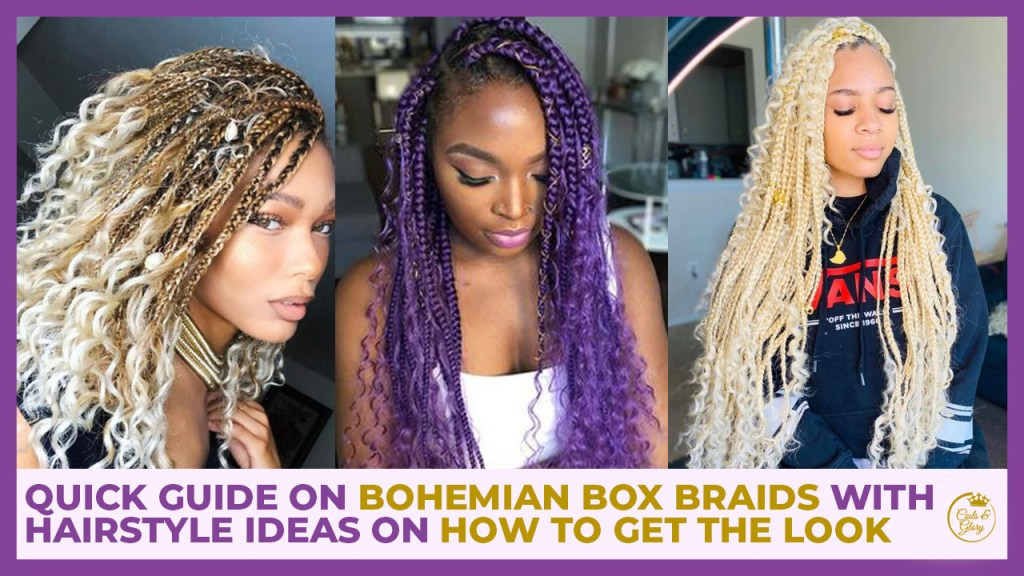 bohemian box braids hairstyles