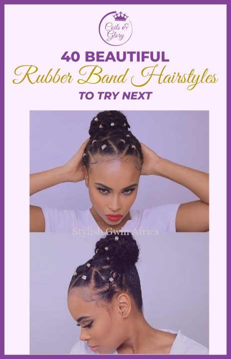 rubber band hairstyles for 4c hair