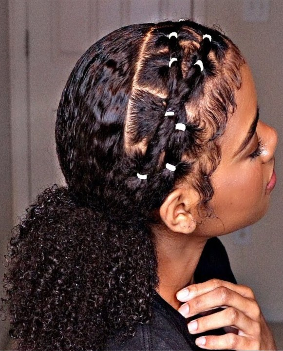 black girl rubber band hairstyles