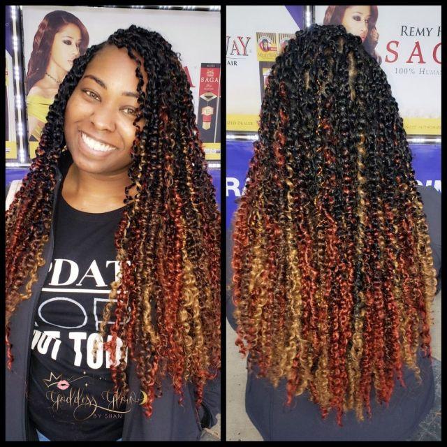 passion twist hairstyle burgundy