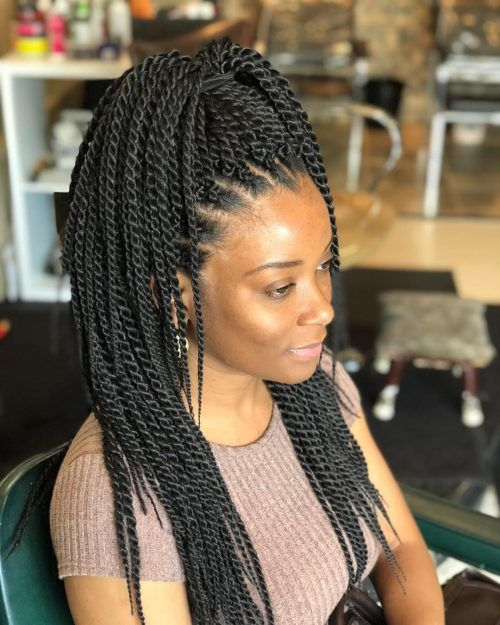 crochet Senegalese Twist on natural hair
