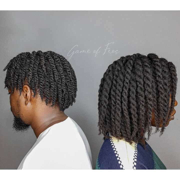 two strand twists on men