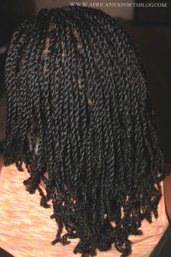 two strand twist on long 4c hair