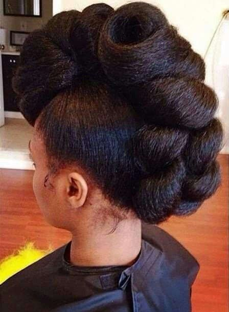 black updo hairstyles with twists