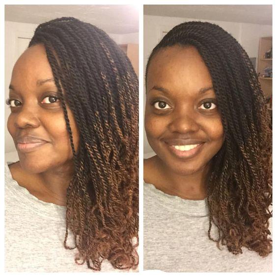 Ombre micro Senegalese Twist