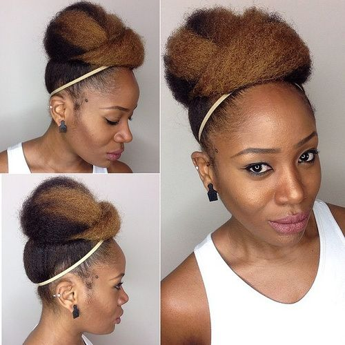 quick updos for natural black hair