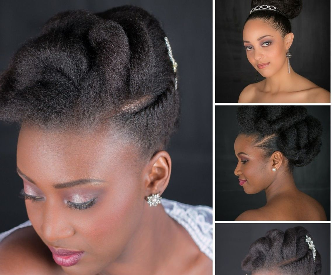 natural updos for medium length hair
